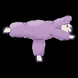 Pose de guerrero de yoga llama