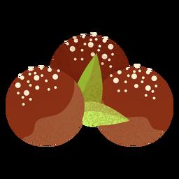 Ilustración de comida árabe lokma