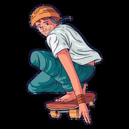 Patinador de caráter masculino skatista