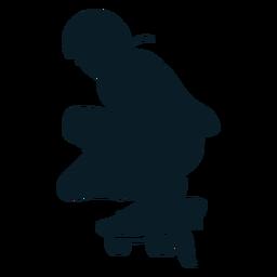 Personaje patinador masculino negro