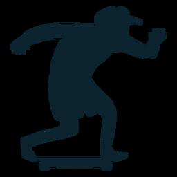 Silueta de patinador masculino