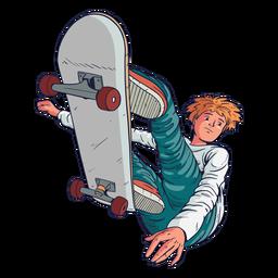 Male skater tricks character
