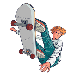 Personagem de truques de skatista masculino