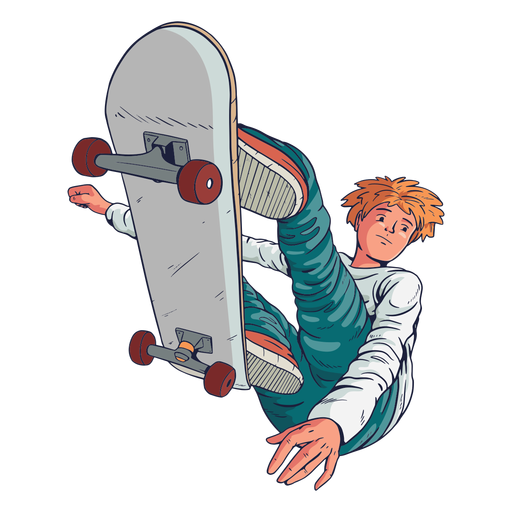 Personaje de trucos de patinador masculino