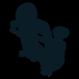 Hombre patinador trucos personaje negro