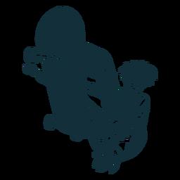 Truques de skatista masculino personagem preto e branco
