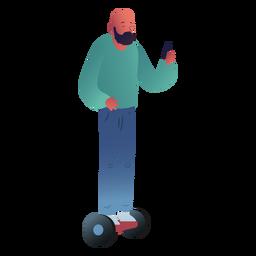 Carácter de hombre hoverboard