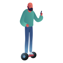 Man hoverboard character