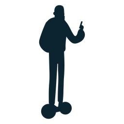 Man hoverboard silhouette
