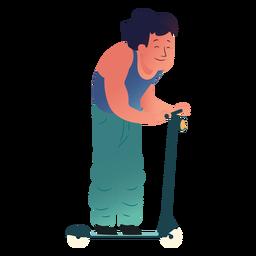 Carácter de hombre patinete