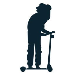 Man kick scooter silhouette