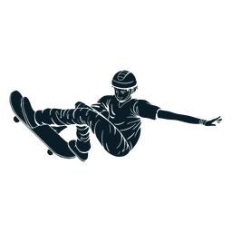 Hombre patinaje personaje negro