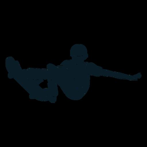 Man skating character black