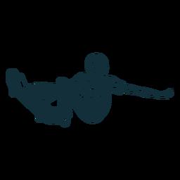 Hombre patinando personaje blanco y negro