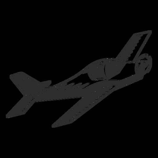Avión ligero moderno en blanco y negro Transparent PNG