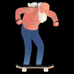 Carácter de patinaje de anciano