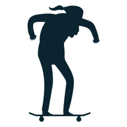 Old man skating silhouette