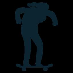 Silueta de patinaje de anciano