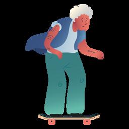 Personaje de patinaje de anciana