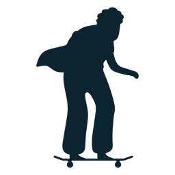Silueta de patinaje de anciana