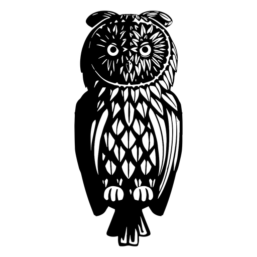 Owl black and white Transparent PNG