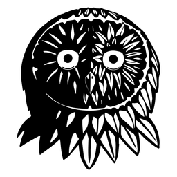 Owl face black and white