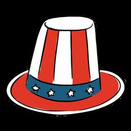 Chapéu patriótico americano