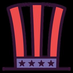 Icono de sombrero de copa americano patriótico