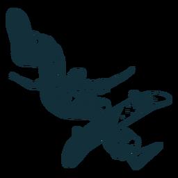 Personaje de patinador profesional en blanco y negro