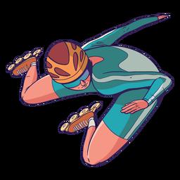 Rollerskater character