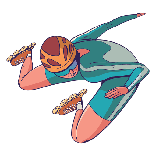 Rollerskater character Transparent PNG