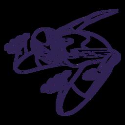 Rollerskater personagem mão desenhada