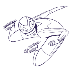 Rollerskater personaje dibujado a mano