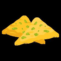 Ilustración de comida árabe Samboosa