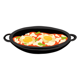 Shakshuka arabic food illustration