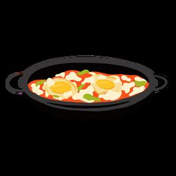 Shakshuka arabic food illustration