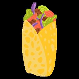 Ilustración de comida árabe Shawarma