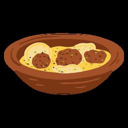 Ilustración de comida árabe Shurba