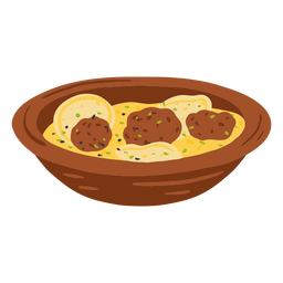 Shurba arabic food illustration