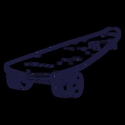 Dibujado a mano patineta