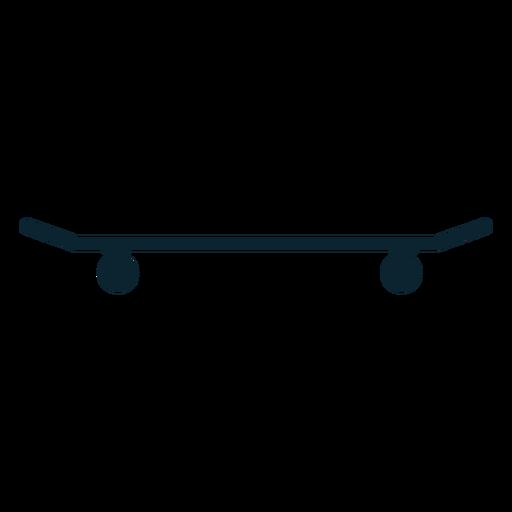 Skateboard silhouette skateboard