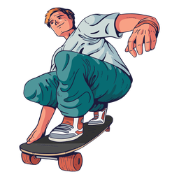 Personaje patinador