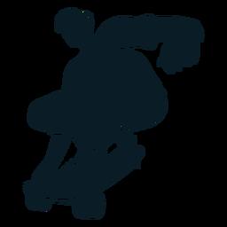 Personagem de skatista preta