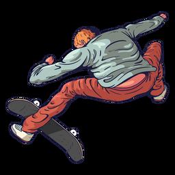 Personaje de trucos de patinador