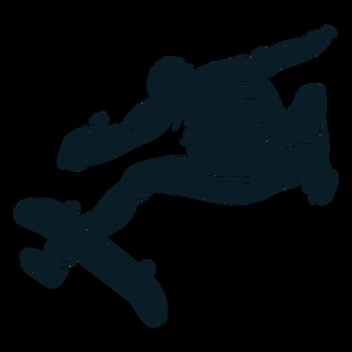 Skater trucos personaje negro