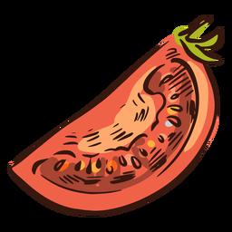 Ilustración de tomate en rodajas