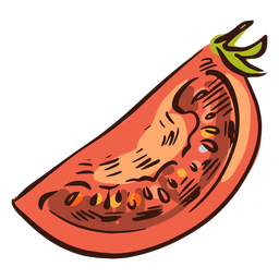 Sliced tomato illustration