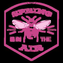 La primavera está en la insignia de aire