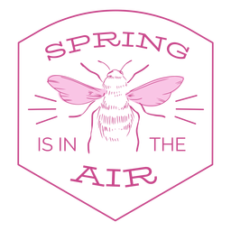 Spring is in the air badge