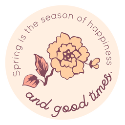 Spring season of happiness badge